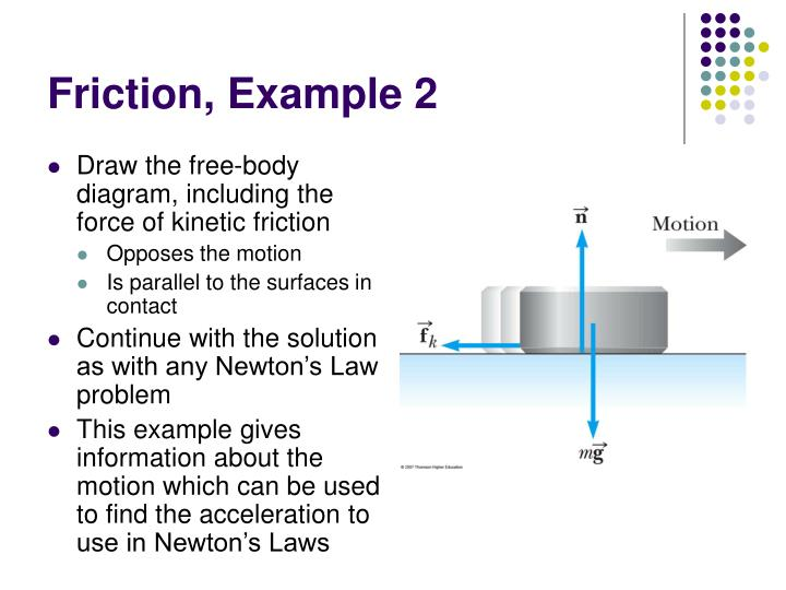 Friction, Example 2