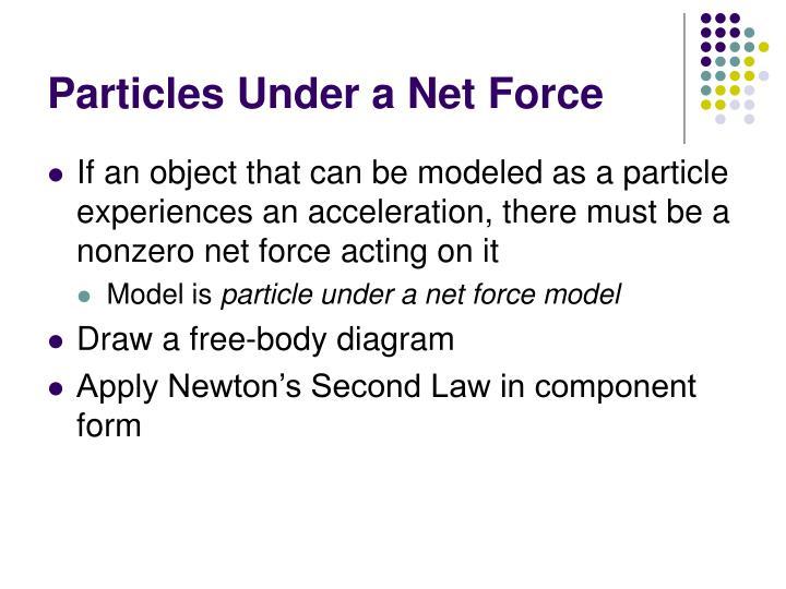Particles Under a Net Force