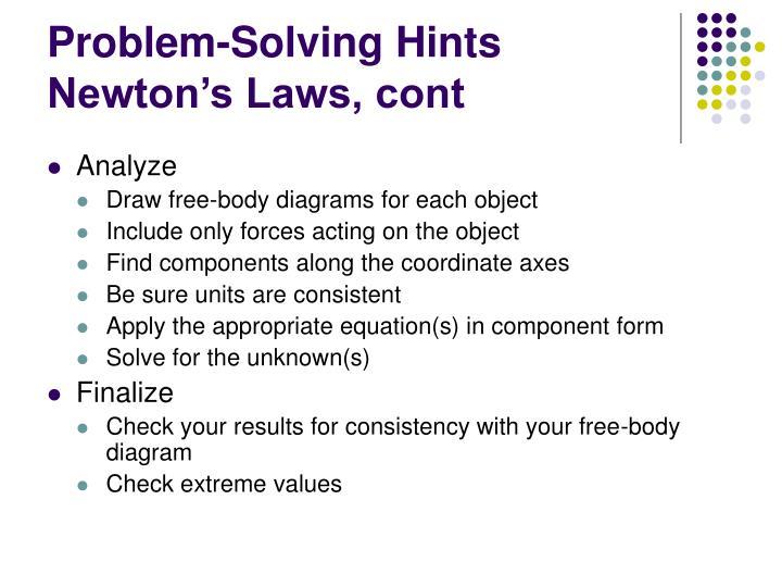 Problem-Solving Hints