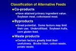 classification of alternative feeds