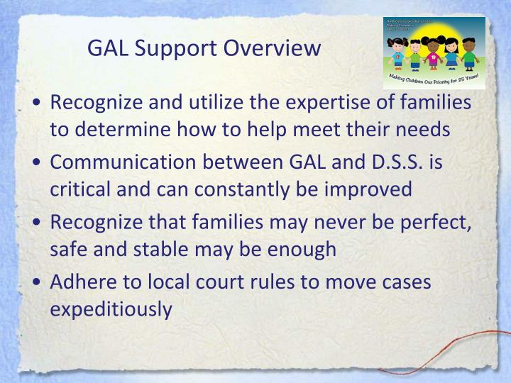 GAL Support Overview