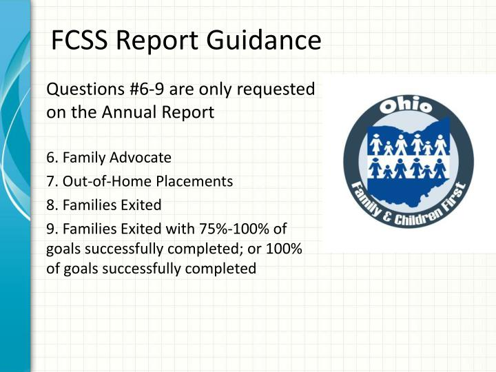 FCSS Report Guidance