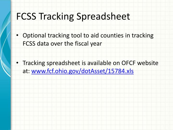 FCSS Tracking Spreadsheet
