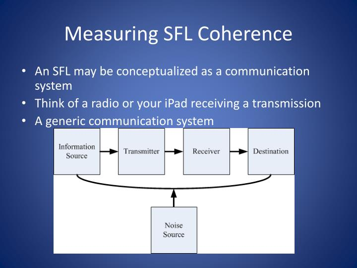 Measuring SFL Coherence