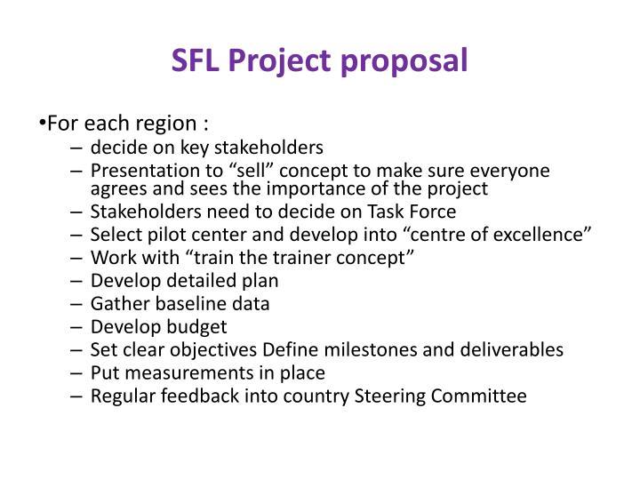 SFL Project proposal
