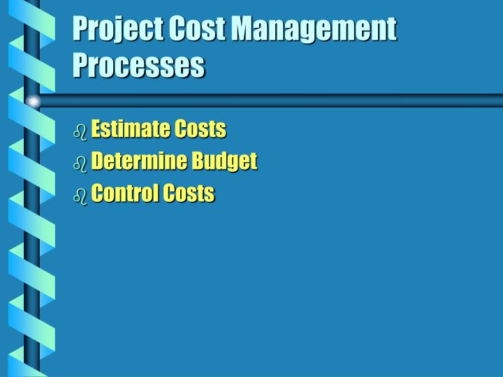 Project Cost Management Processes