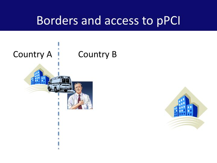 Borders and access to pPCI