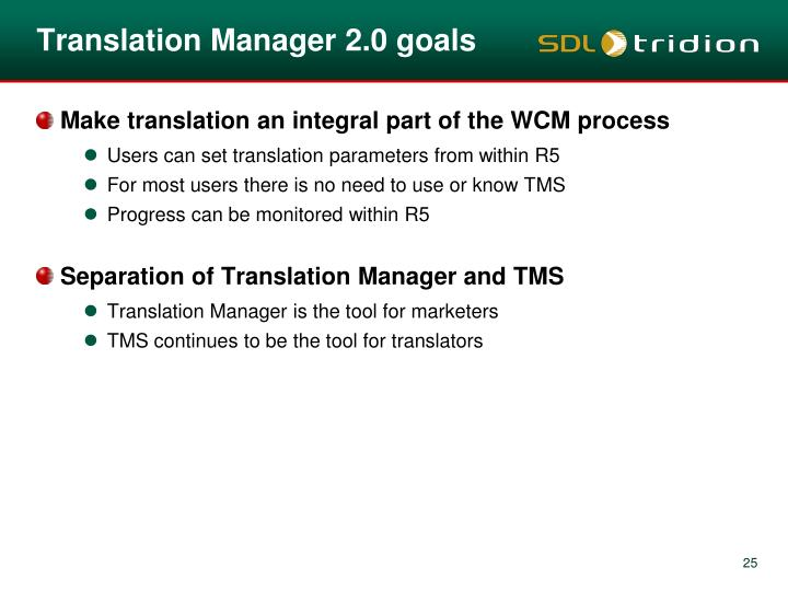 Translation Manager 2.0 goals