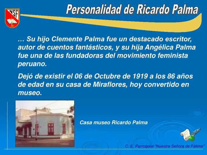 Personalidad de Ricardo Palma