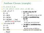 attribute closure example