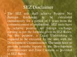 sez disclaimer