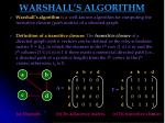 warshall s algorithm