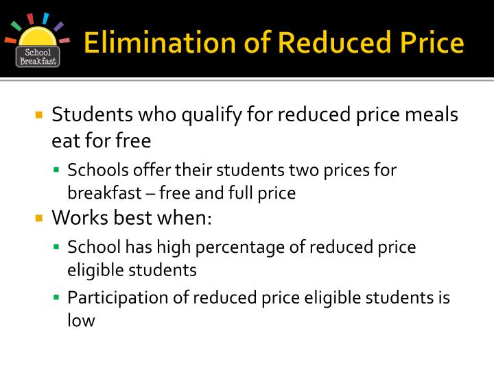 Elimination of Reduced Price