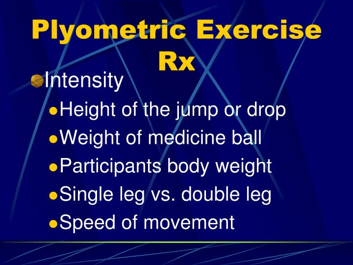 Plyometric Exercise Rx