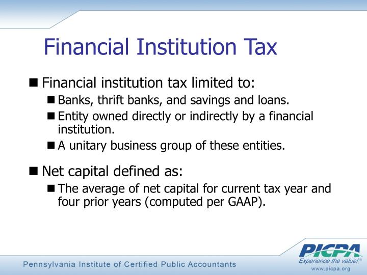 Financial Institution Tax