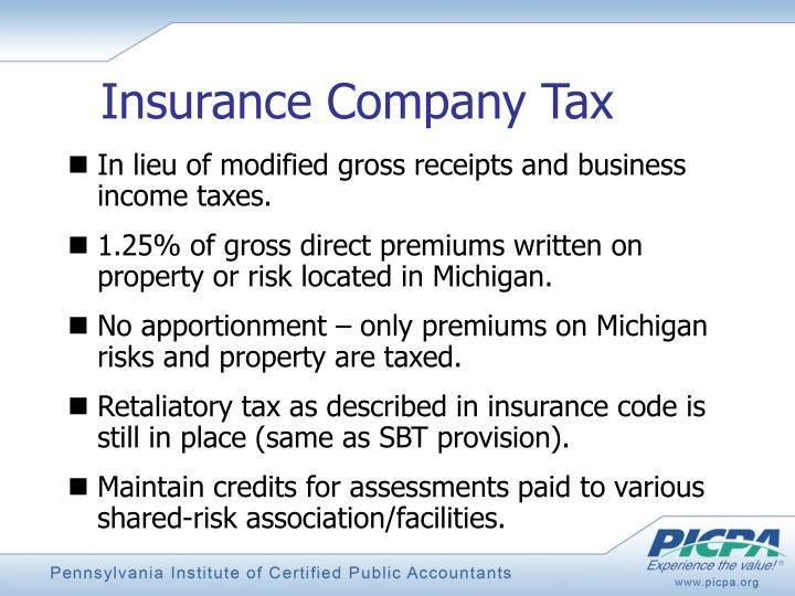 Insurance Company Tax