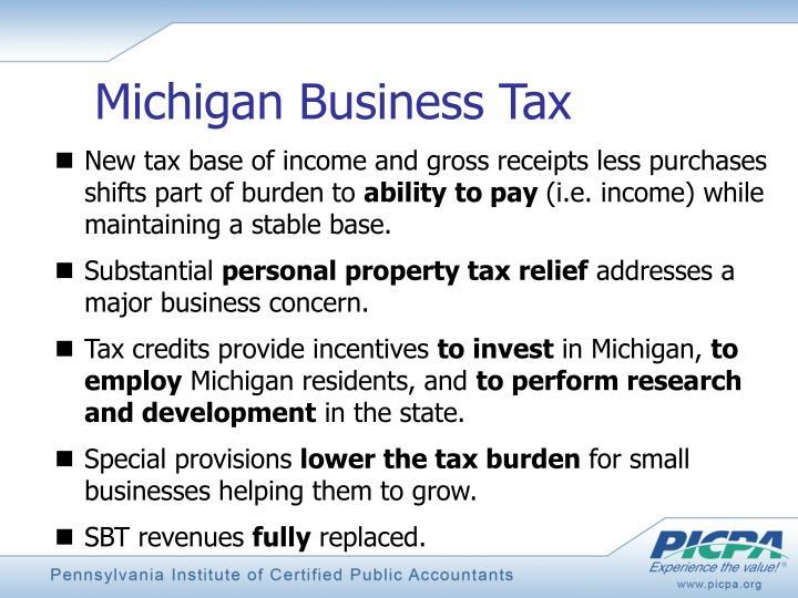 Michigan Business Tax