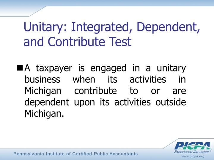 Unitary: Integrated, Dependent, and Contribute Test