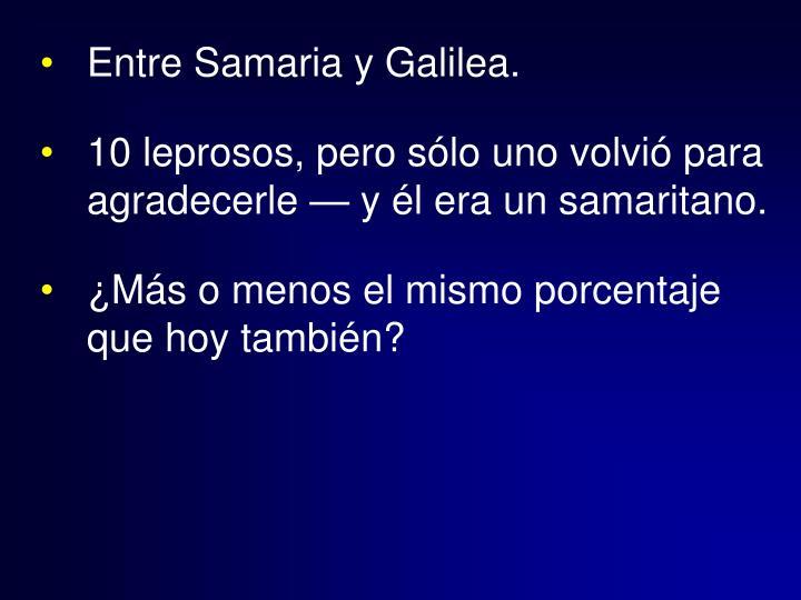 Entre Samaria y Galilea.