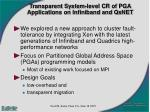 transparent system level cr of pga applications on infiniband and qsnet