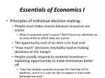 essentials of economics i