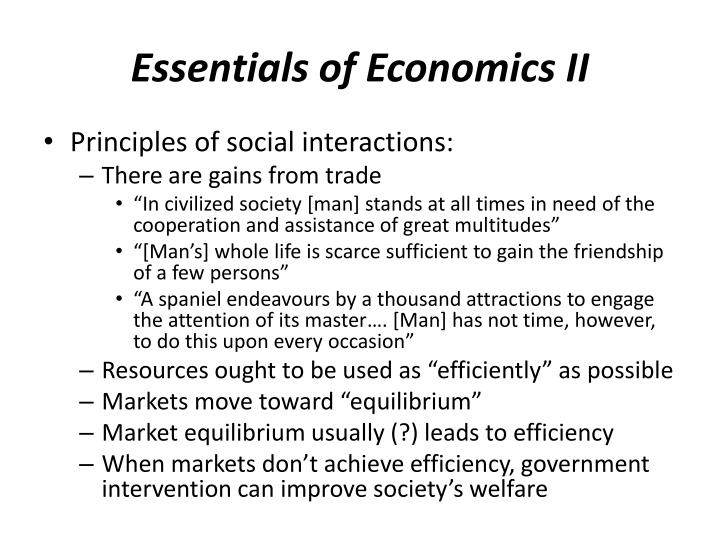 Essentials of Economics II