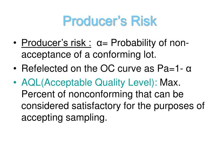 Producer's Risk