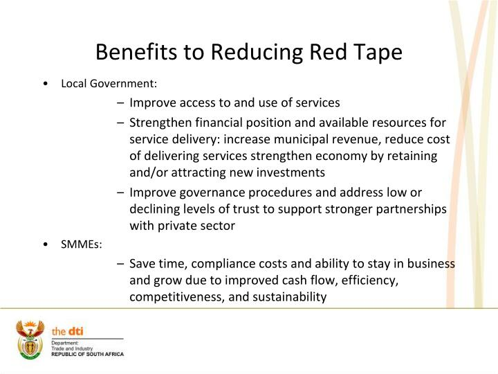 Benefits to Reducing Red Tape