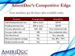 ameridoc s competitive edge