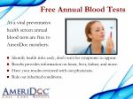 free annual blood tests
