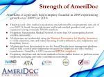 strength of ameridoc