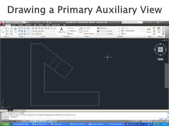Drawing a Primary Auxiliary View
