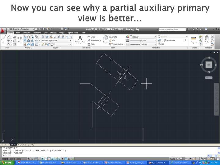 Now you can see why a partial auxiliary primary view is better…