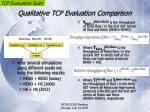 qualitative tcp evaluation comparison