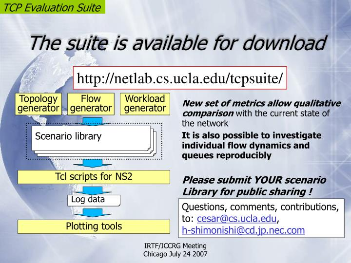 The suite is available for download