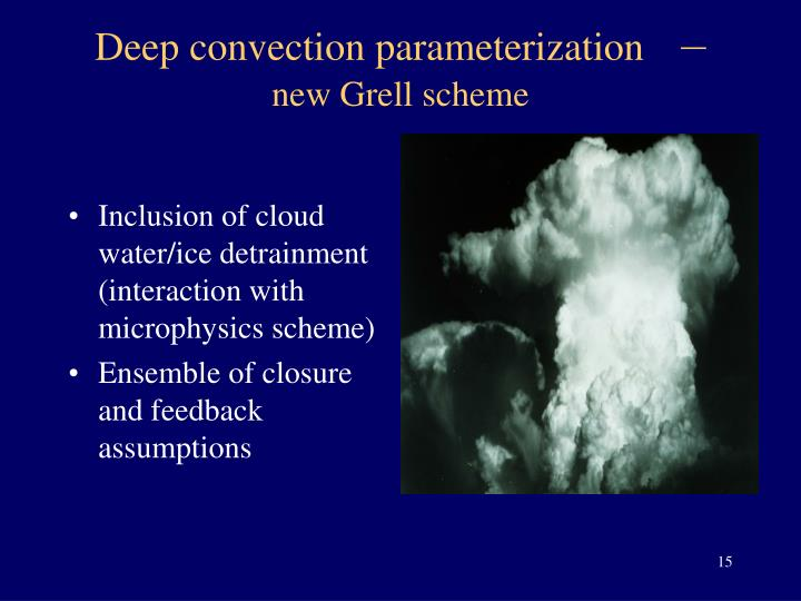 Inclusion of cloud water/ice detrainment (interaction with microphysics scheme)