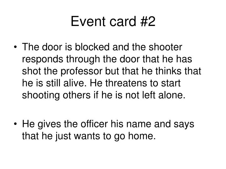 Event card #2