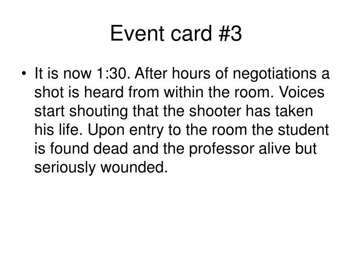 Event card #3