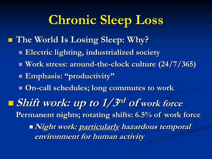 Chronic Sleep Loss