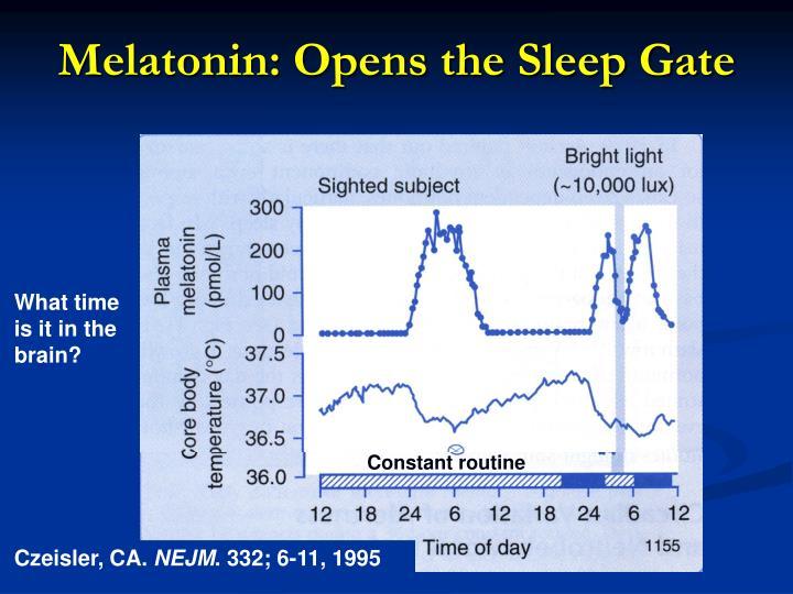 Melatonin: Opens the Sleep Gate