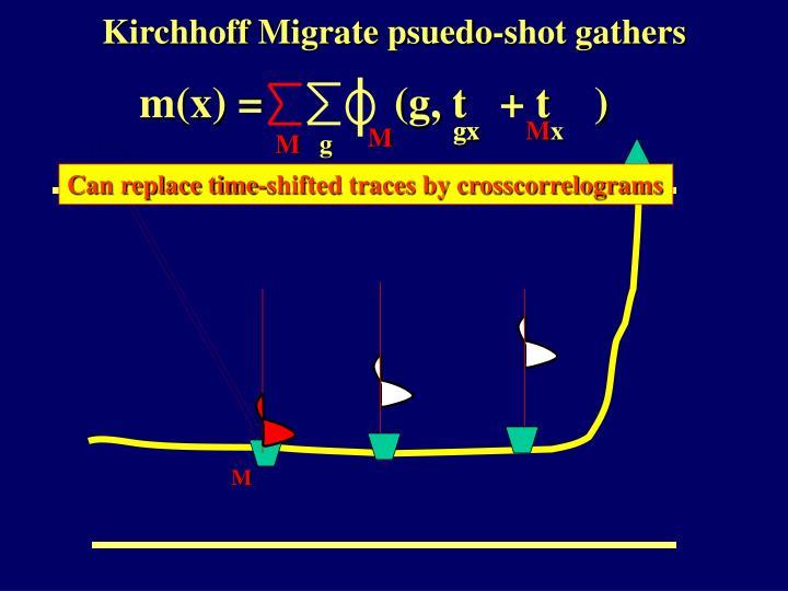Kirchhoff Migrate psuedo-shot gathers