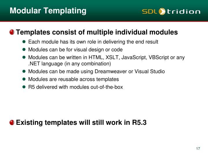 Modular Templating