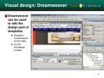 visual design dreamweaver