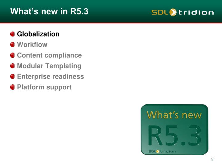 What's new in R5.3