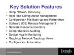 key solution features