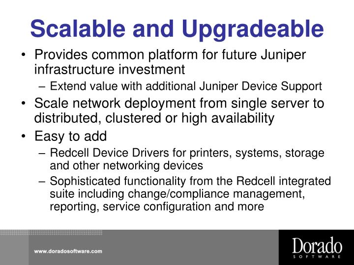 Scalable and upgradeable