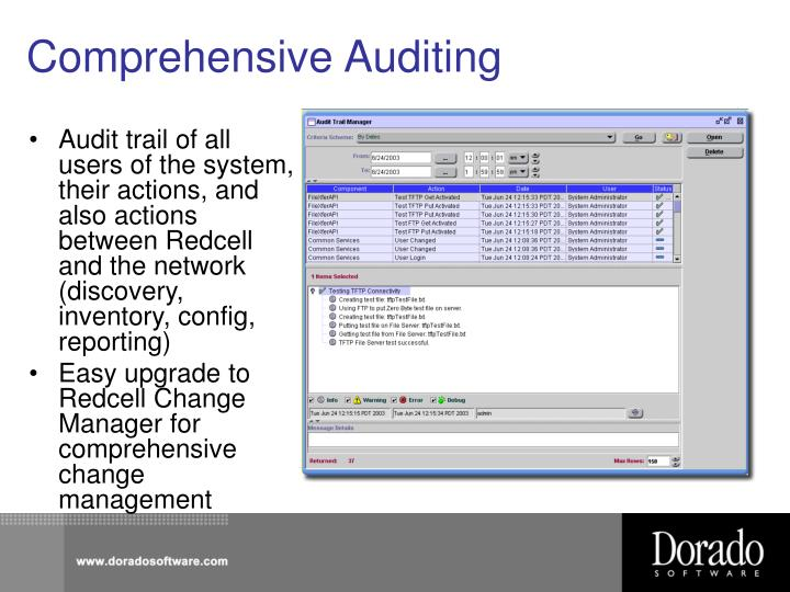 Comprehensive Auditing