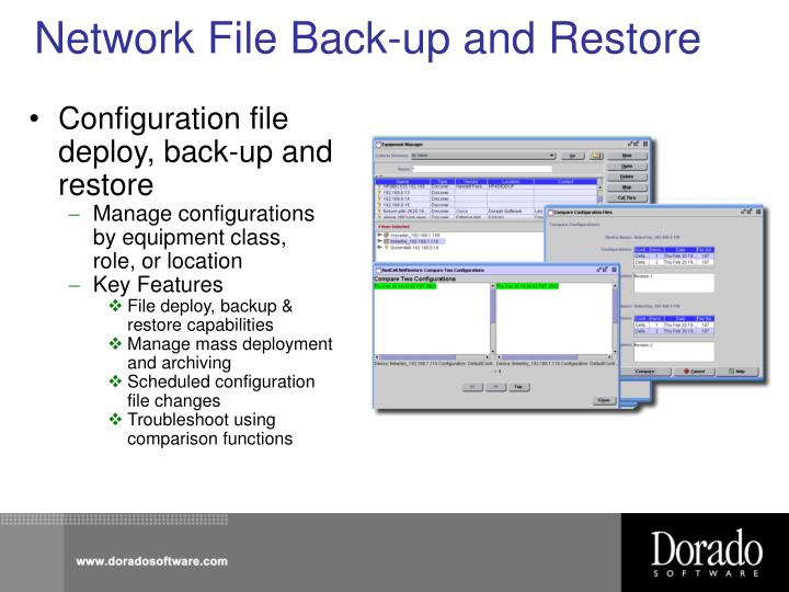 Network File Back-up and Restore