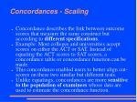 concordances scaling