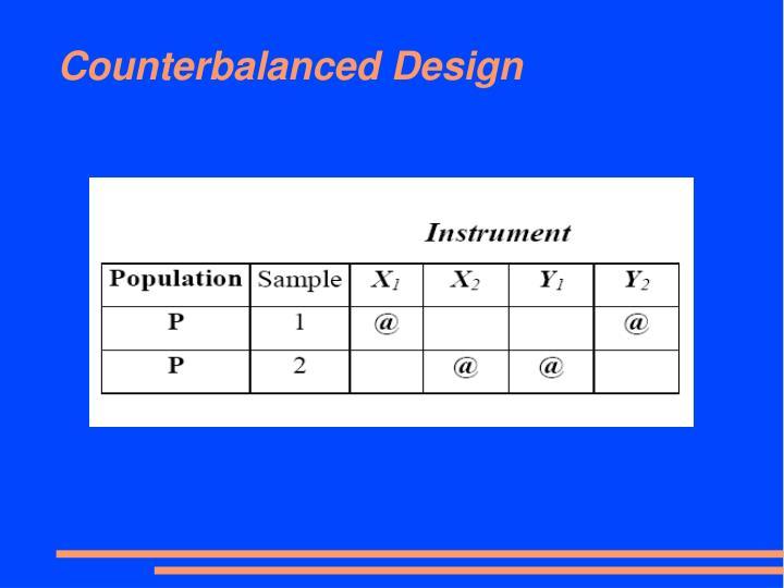 Counterbalanced Design